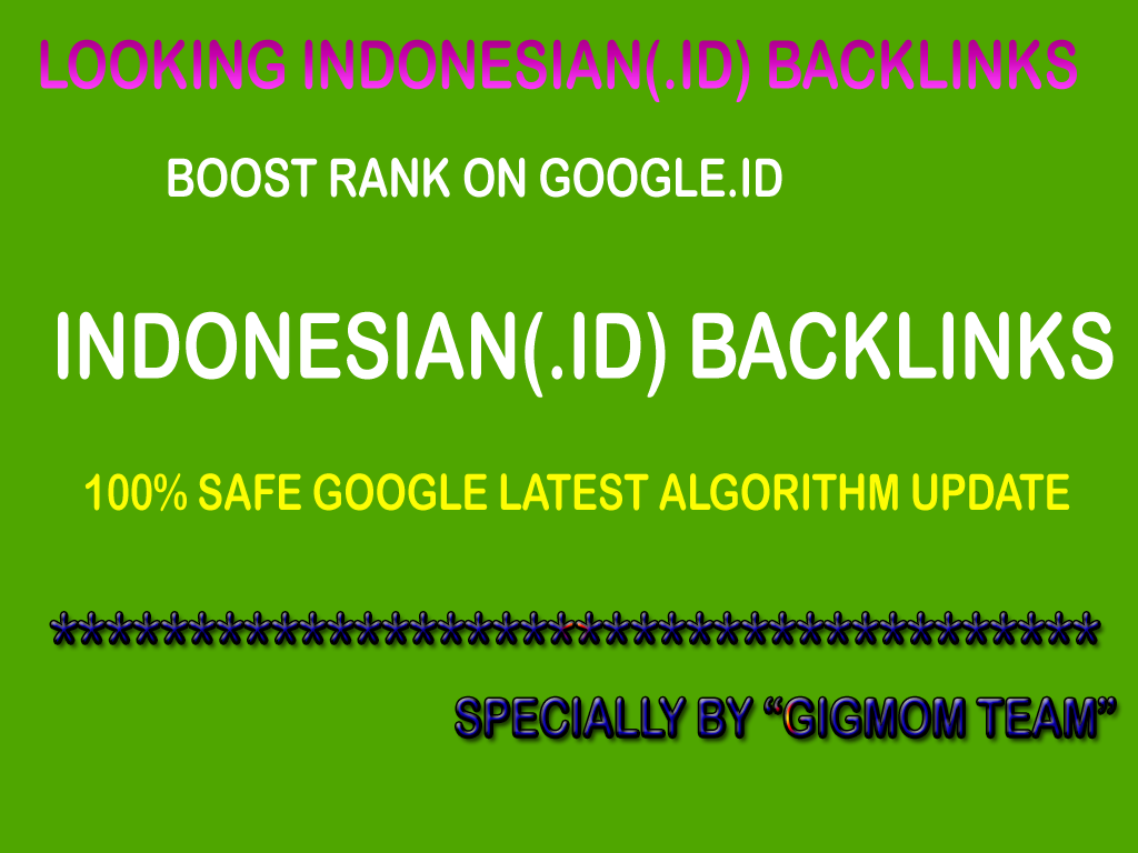 Trusted 15 Authority Indonesian Links DA40+ to Boost Rank on Google.id