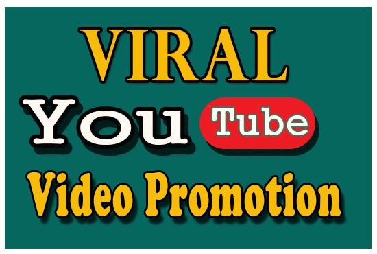 I will do organic video promotion through social media