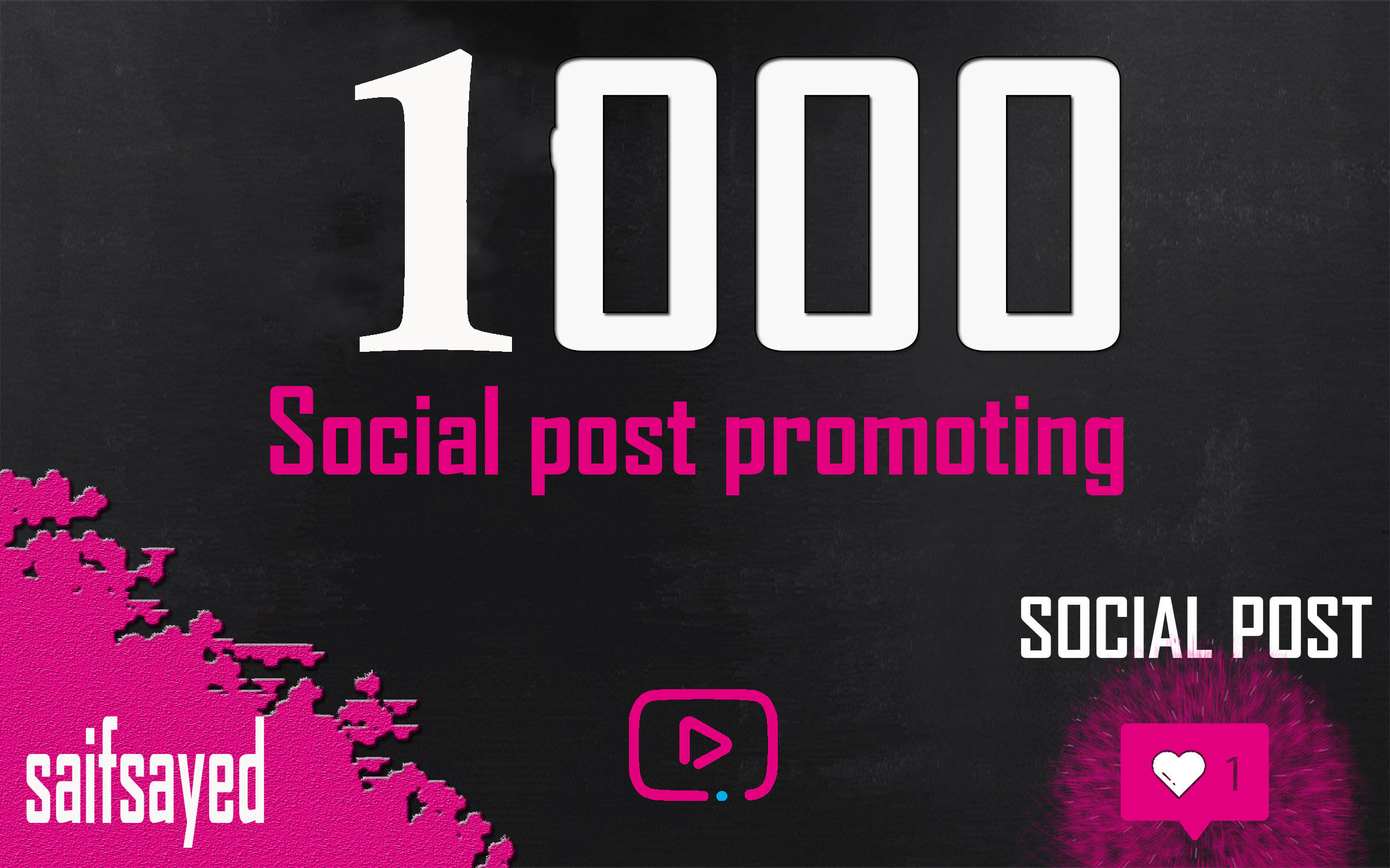 Get Fast 1000 Liikk OR 30k vieeuws Your SOCIAL POS OR VIDdEO