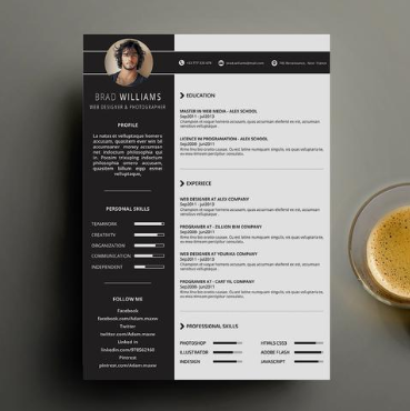 Creative Designer Resume CV has a simple yet creative style of design