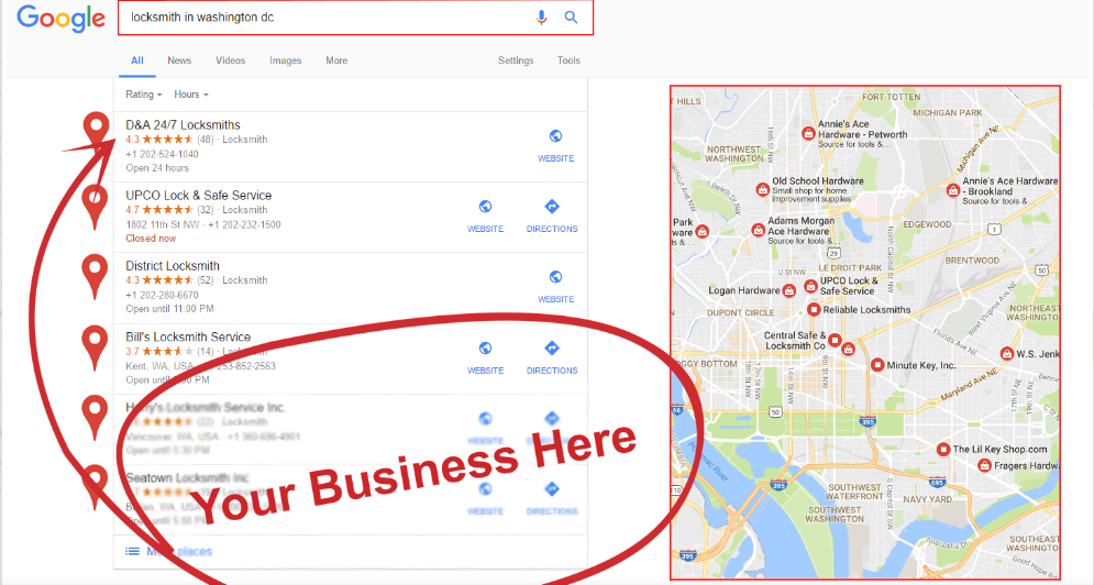 I will do for your business google citations map citations local SEO local business