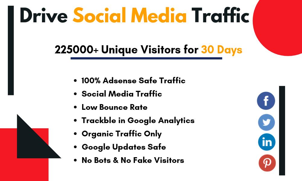Drive USA based social media traffic