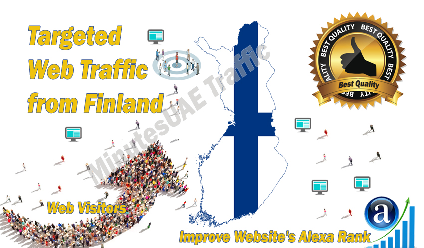 Finnish web visitors real targeted Organic web traffic from Finland