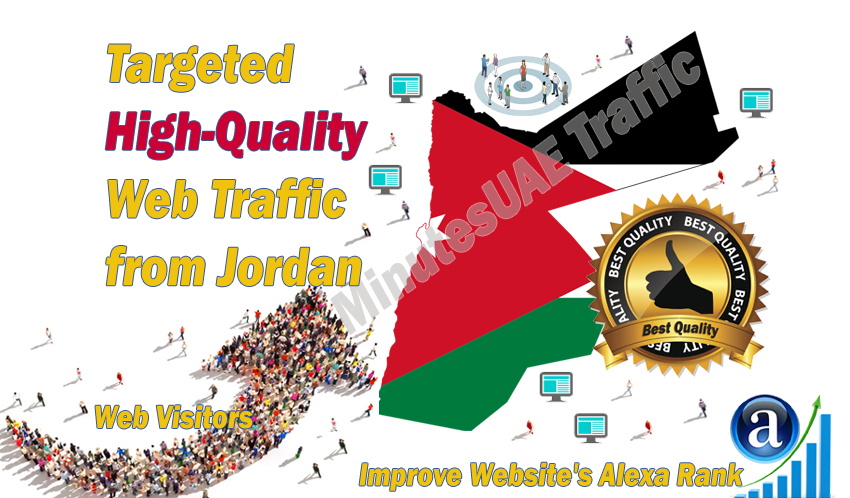 Jordanian web visitors real targeted high-quality web traffic from Jordan