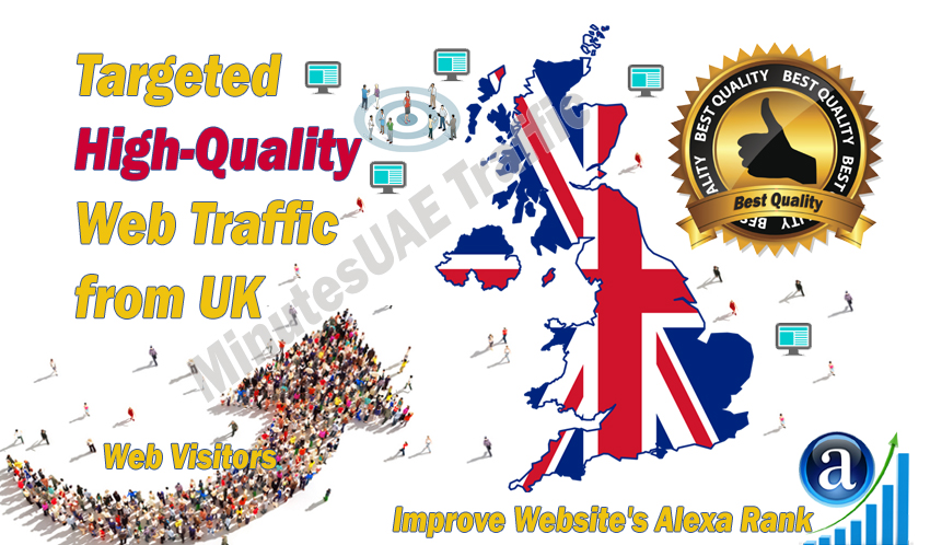 British web visitors real targeted high-quality web traffic from UK,  United Kingdom