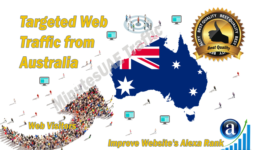 Australian web visitors real targeted high-quality web traffic from Australia