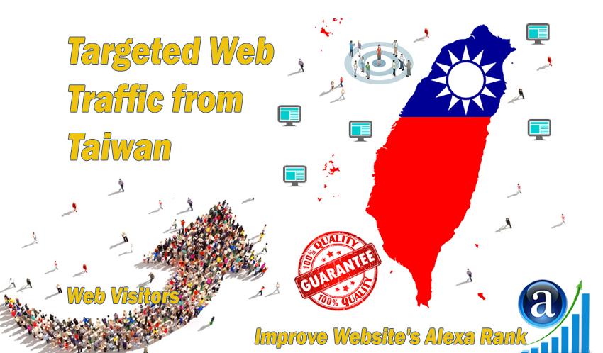Taiwanese web visitors real targeted Organic web traffic from Taiwan