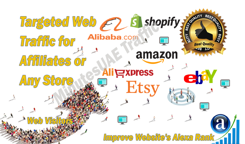High-quality web traffic for Affiliates,  Amzon,  eBay,  Alibaba,  AliExpress,  Etsy or Shopify Store