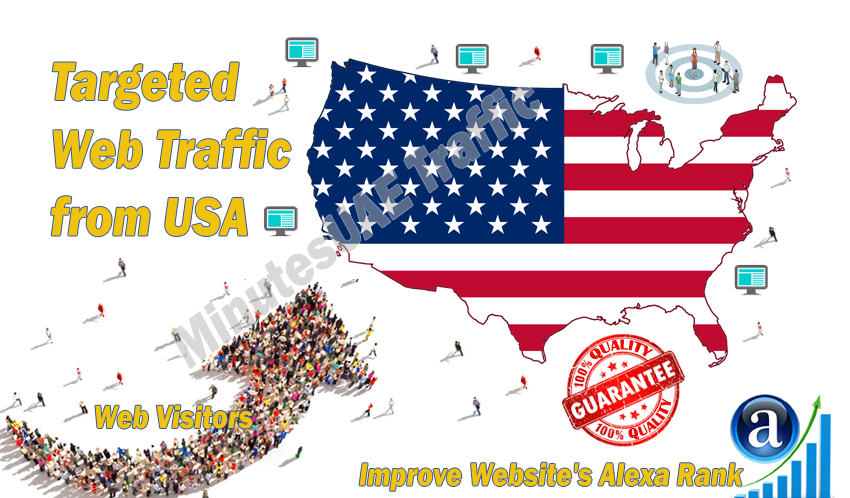 American web visitors real targeted Organic web traffic from USA, United States