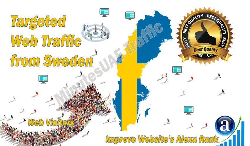 Swedish web visitors real targeted high-quality web traffic from Sweden
