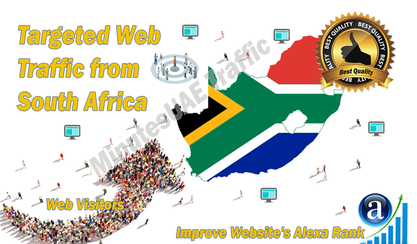 South African web visitors real targeted Organic web traffic from South Africa