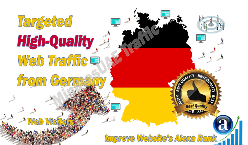 German web visitors real targeted high-quality web traffic from Germany