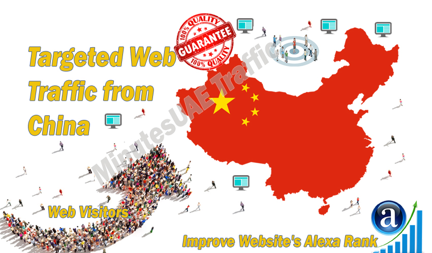 Chinese web visitors real targeted Organic web traffic from China