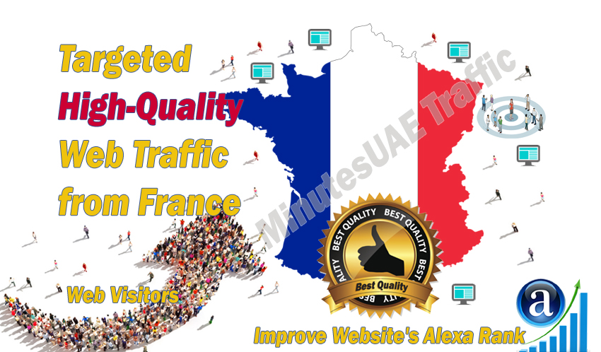 French web visitors real targeted high-quality web traffic from France