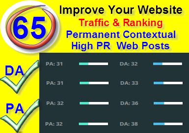 65 High PR DA PA Permanent Backlinks To Improve Your Ranking
