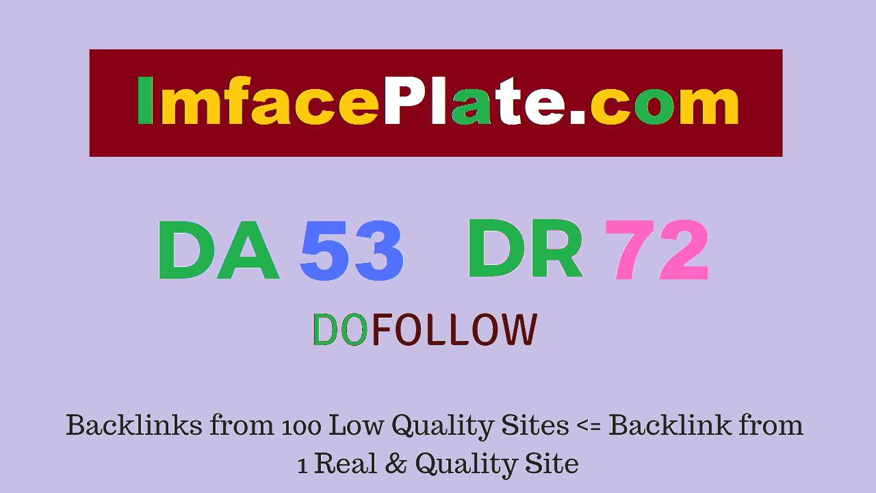 Publish Guest Post on Imfaceplate. com DA 53