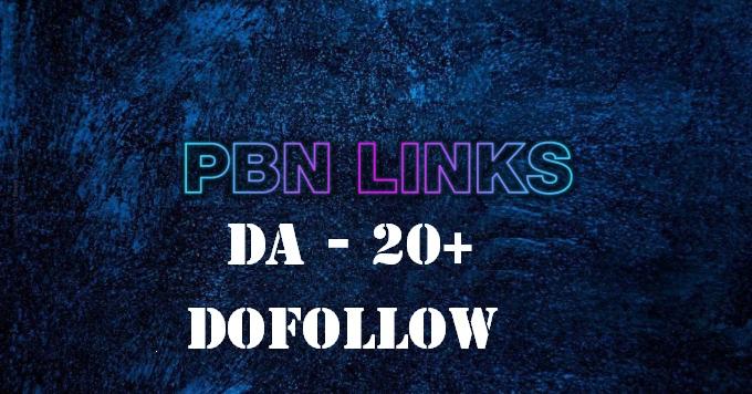 Build 10 High da dofollow homepage pbn backlinks