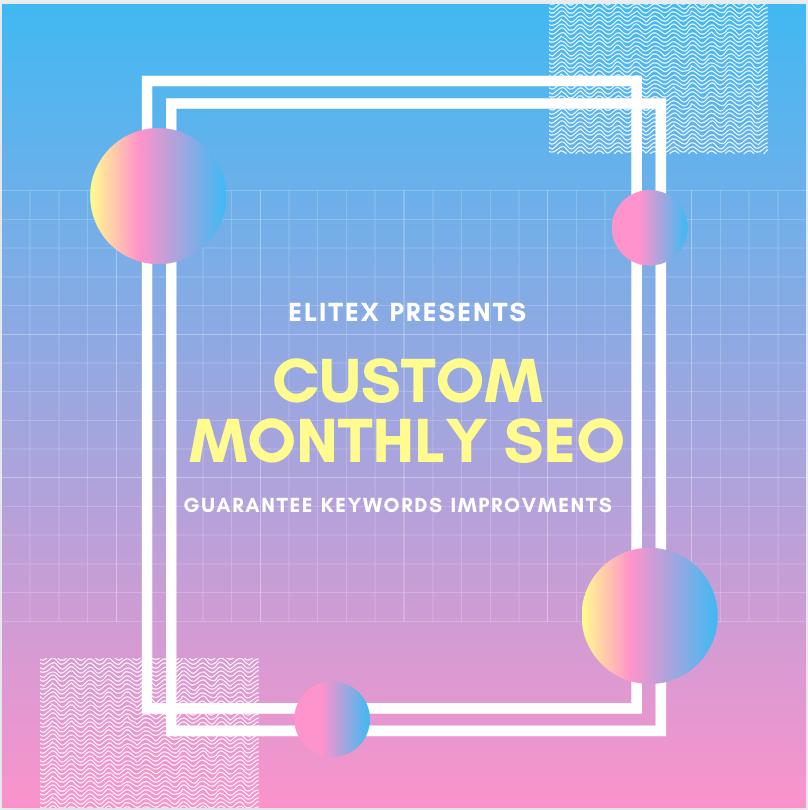 EliteX CUSTOM MONTHLY Premium Agency Level SEO - Guarantee Rankings