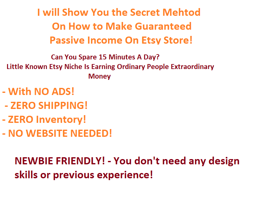 Give You A Secret Method to Increase Your Etsy Sales Dramatically without Investing single penny