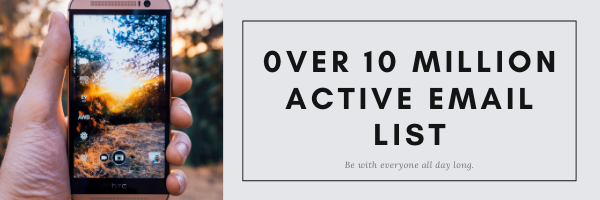 Get over 10 million active email list