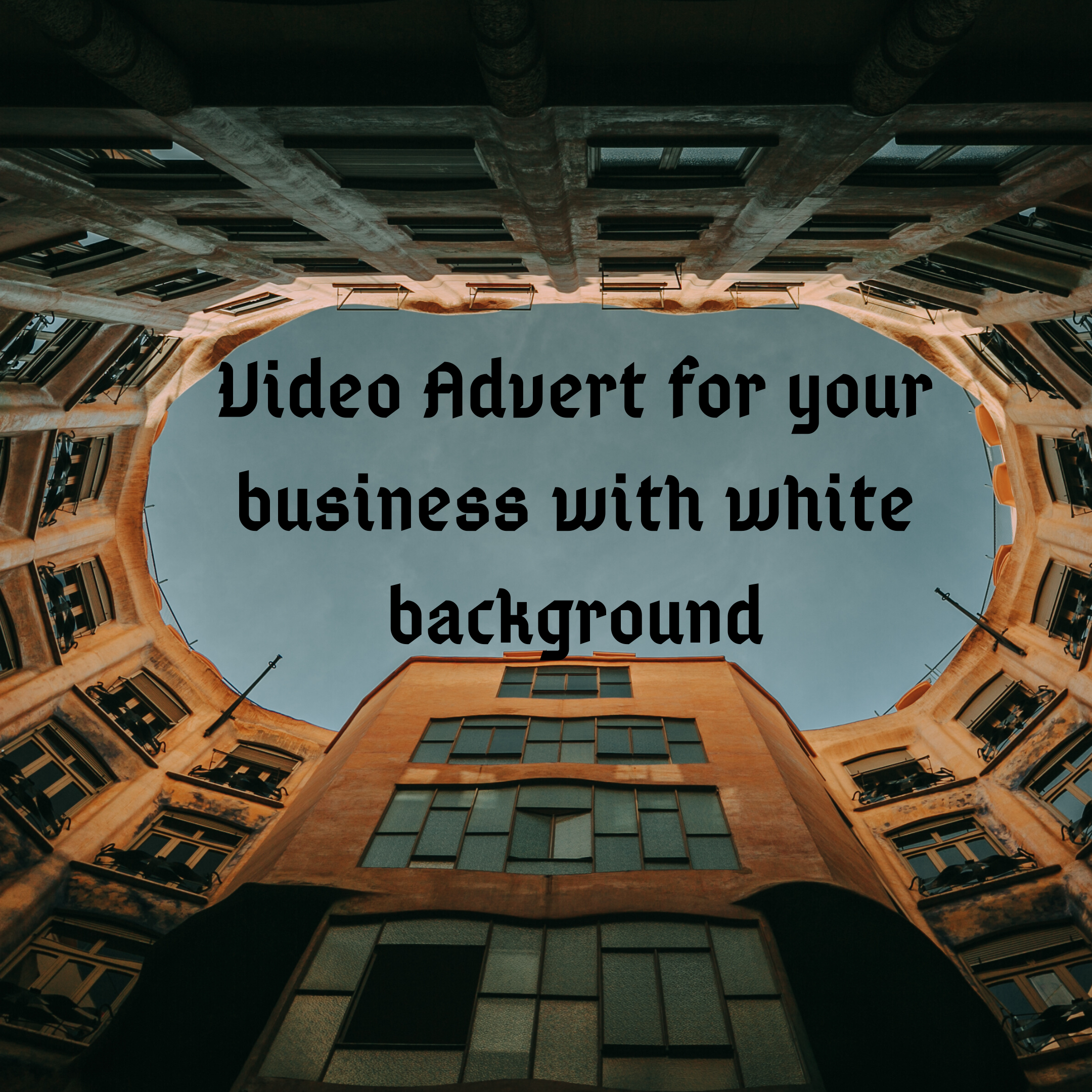 Text Explainer Video for your business advert with black background
