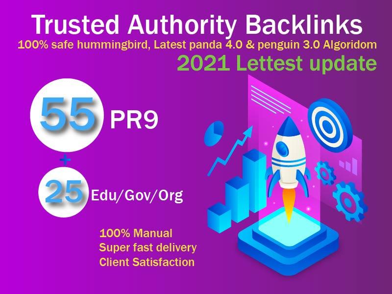 2021 Exclusive Offer-75 Backlinks 50 PR9 +25 EDU/GOV 80+DA manually Do Safe SEO Increase Google