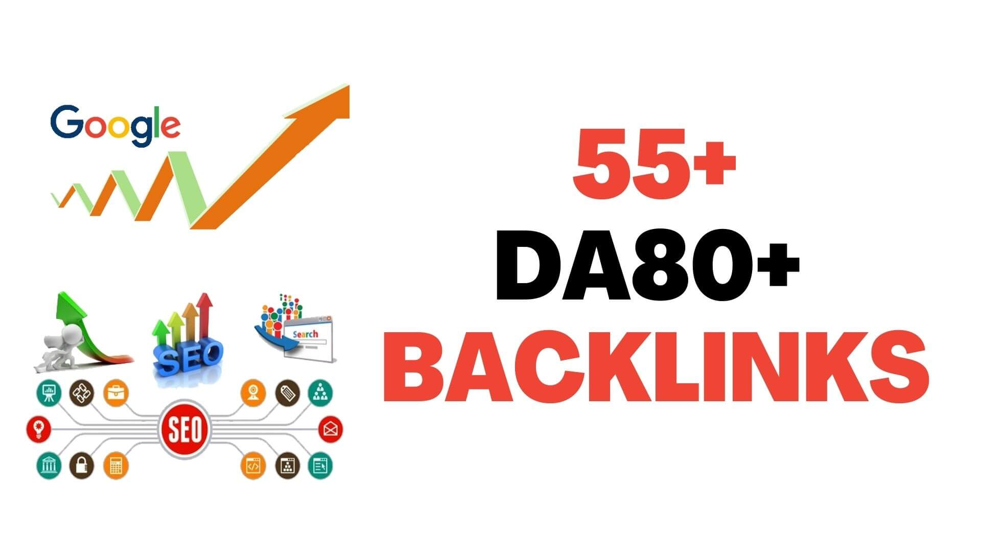 Verified 55+ DA80+ backlinks to Rank higher in Search result