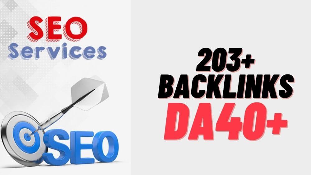 203 Links - All Backlinks DA40+: Manual PR6 to PR9 Moz verified domain to rank high within days