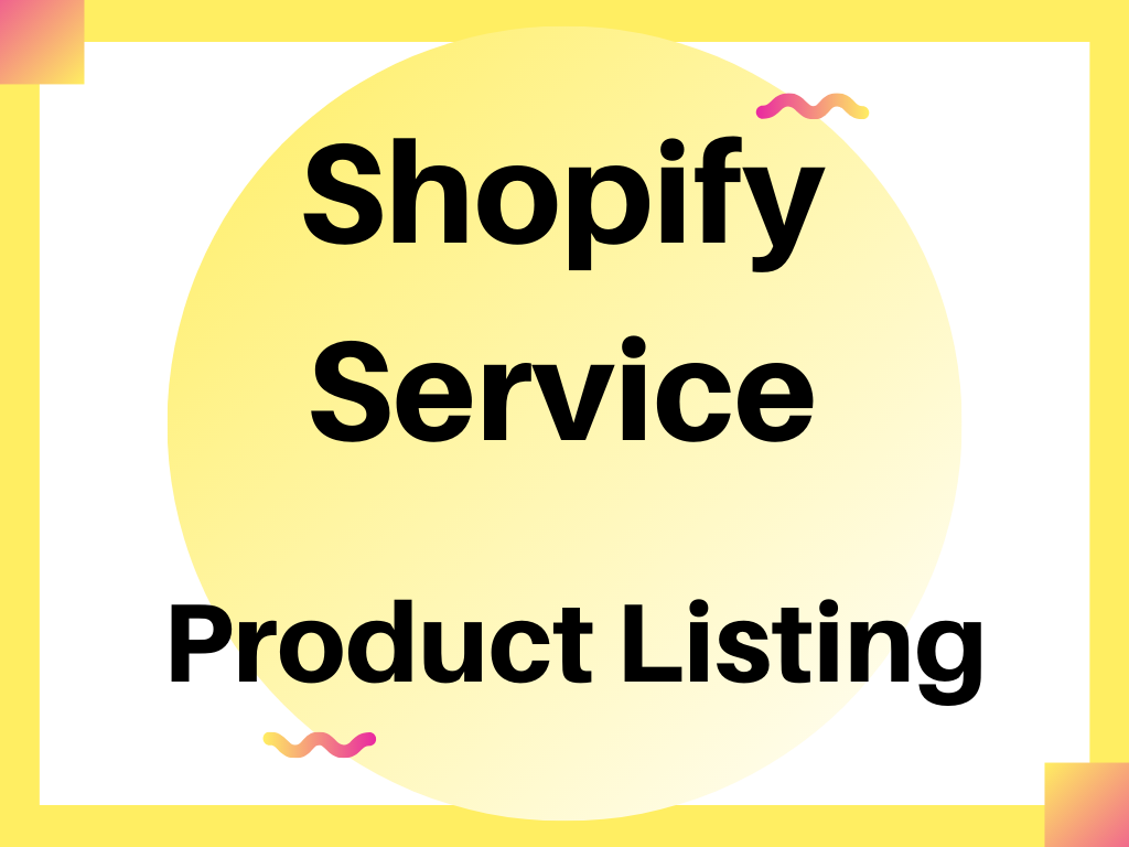 do shopify product listing and data entry