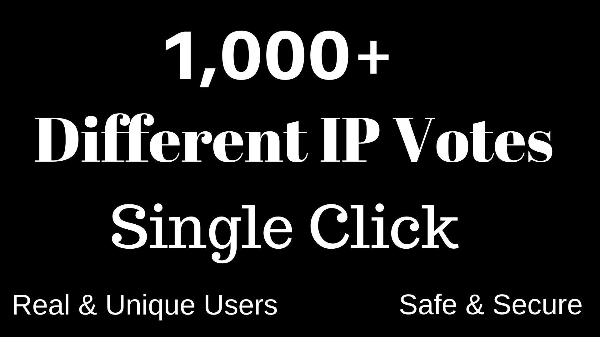 Manage 1,000+ Different and targeted country IP Votes Single Click