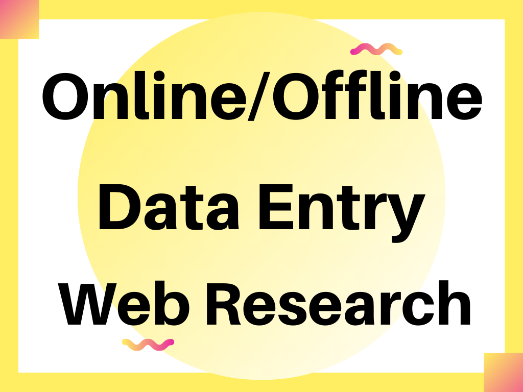 be your virtual assistant for data entry,  data mining,  and web research