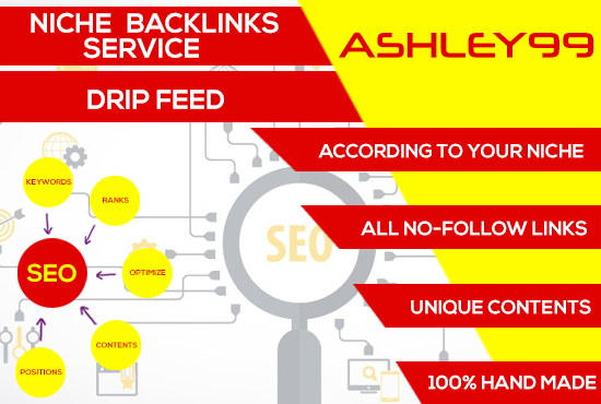 Niche Relevant Drip Feed Backlinks Service