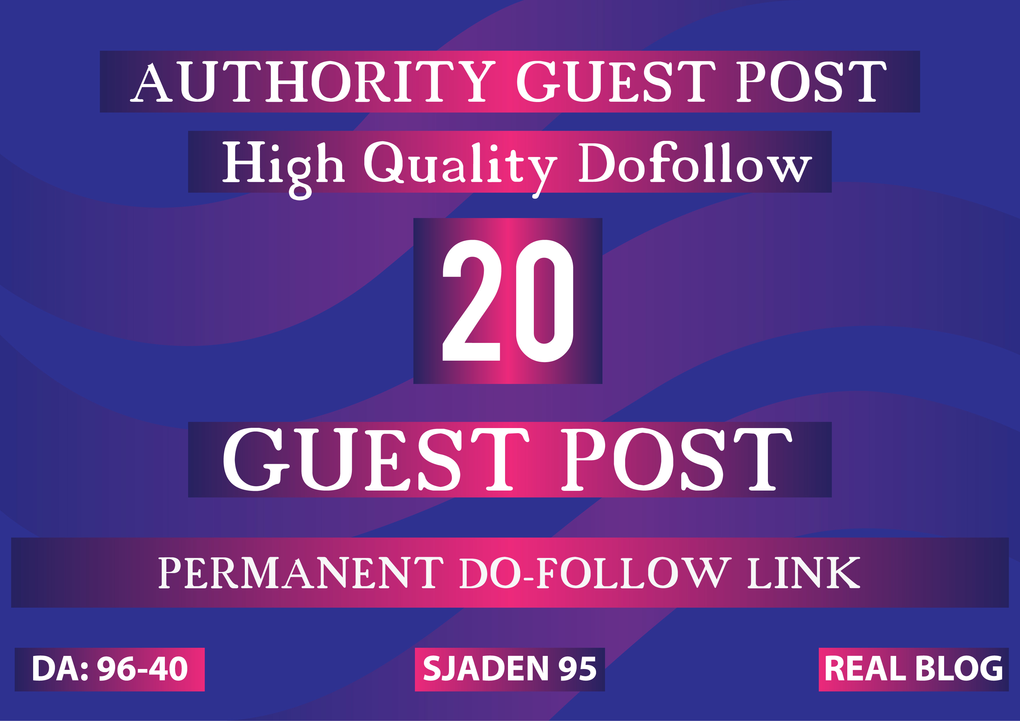 Create 20 Guest P0st on High Page And Domain Authority