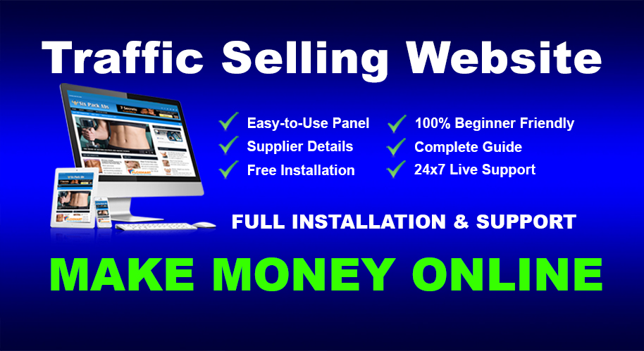 Website Traffic And Seo Service Selling Business Template