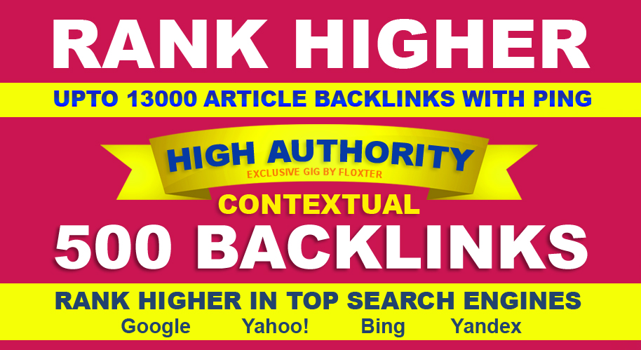500 Contextual Backlinks Paypal Payment Supported