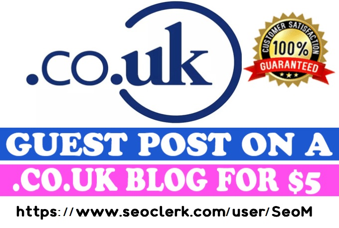Publish a Guest Post on. CO. UK Blog