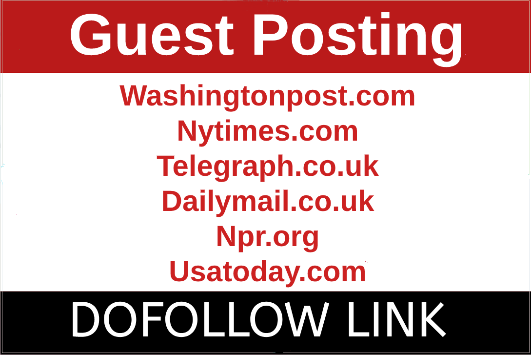 Guest Post on Washingtonpost,  telegraph,  nytimes,  dailymail,  npr. org usatoday