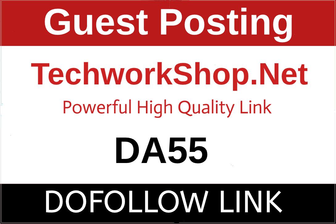 I Will Publish A Guest Post On TechWorkshop,  Techworkshop. net