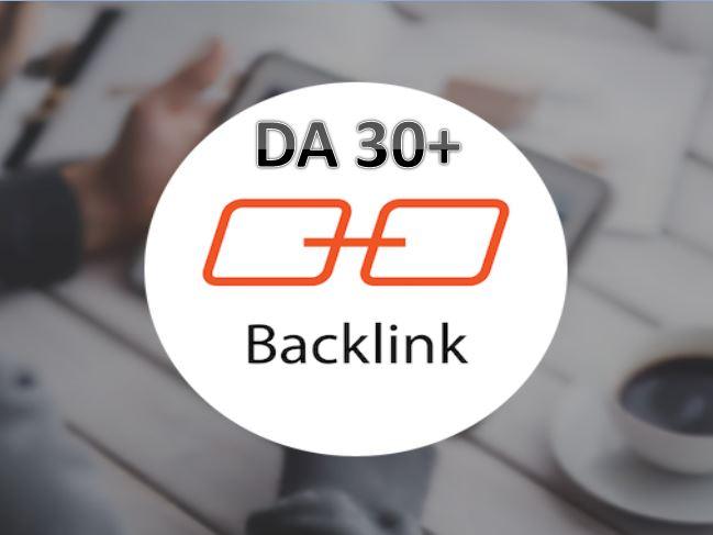 i will Provide DA 30+ Domain Authority Backlink