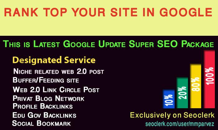 Rank top your website in google