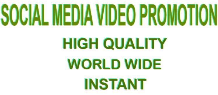 Social Media Organic Video Promotion Instant