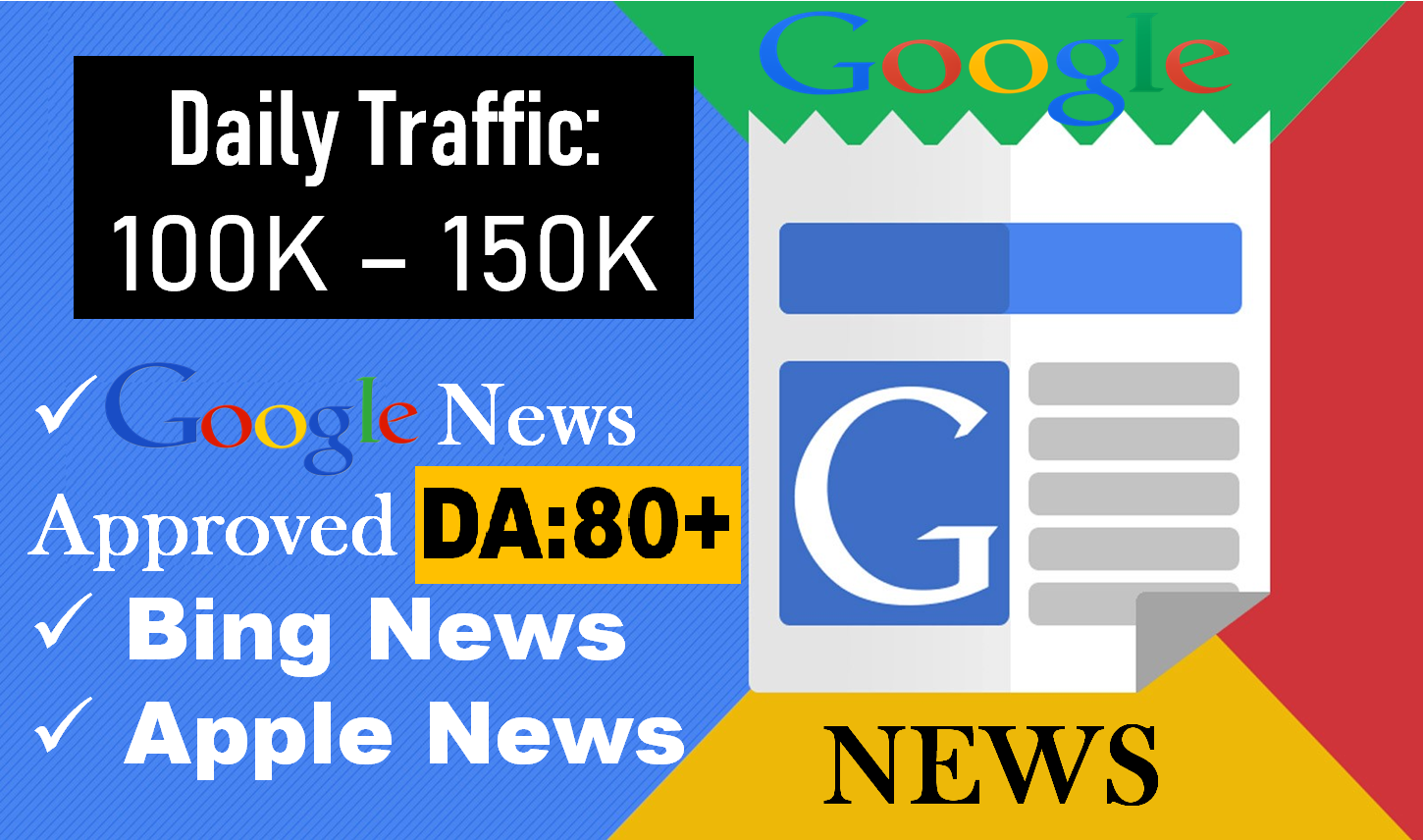 Publish on Google news Approved With Permanent Backlink