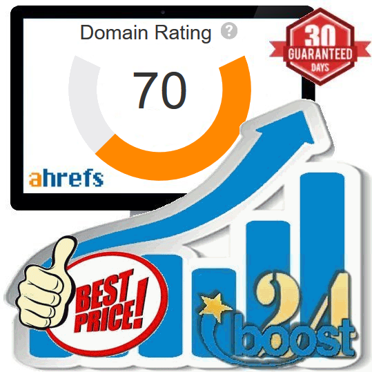Increase your Domain Rating to DR70+ (Ahrefs)