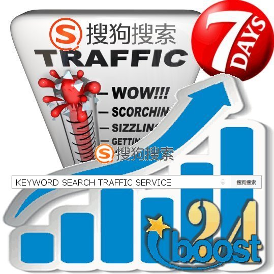 Daily keyword targeted visitors from Sogou for 7 days