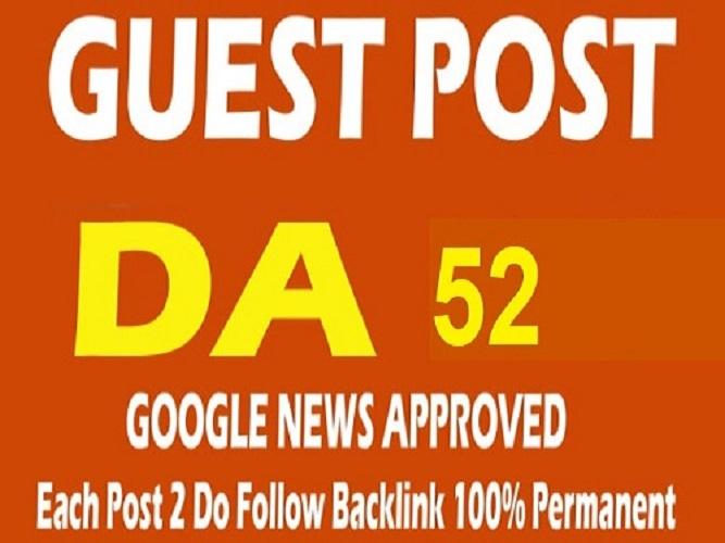 Guest Posting Do follow backlink DA52