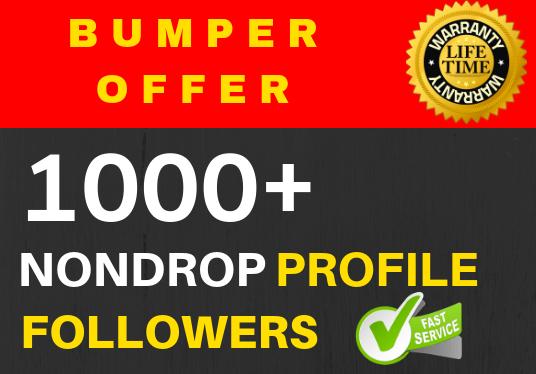 Add 1000+ Super Fast profile followers