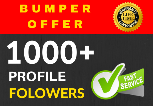 Add 1000+ Super Fast profile followers