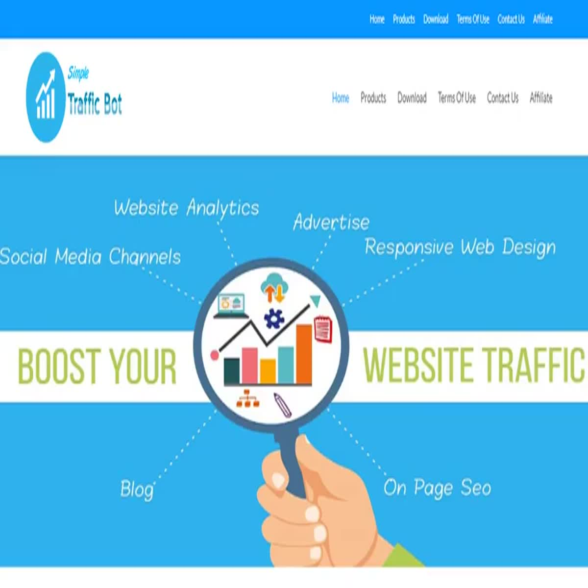 Simple Traffic Bot - Generate unlimited traffic for your website