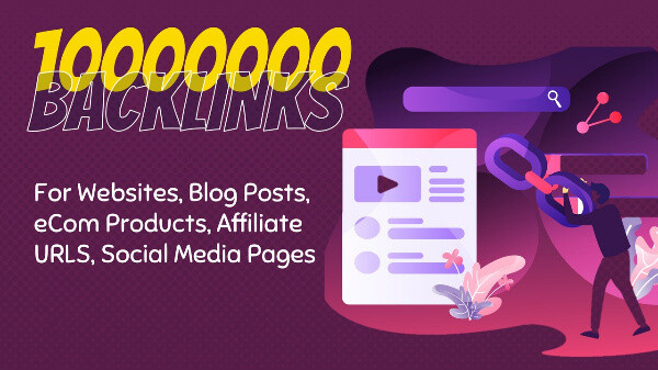 10 Million DoFollow SEO Backlinks And Pings Fast