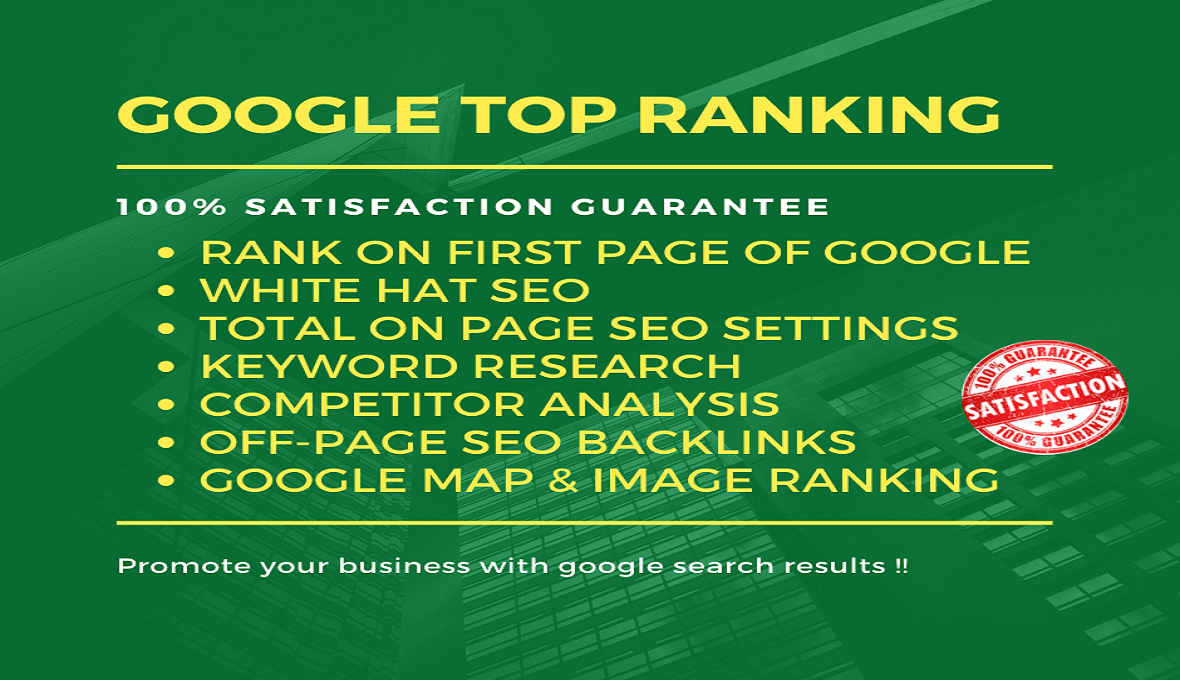 I will rank your website on Google top with white hat SEO